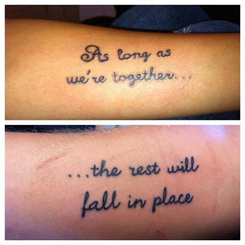 Couple Tattoo Needs A Better Font But I Love The Quote Tattoos Magnificent Love Tattoos For Couples Quotes