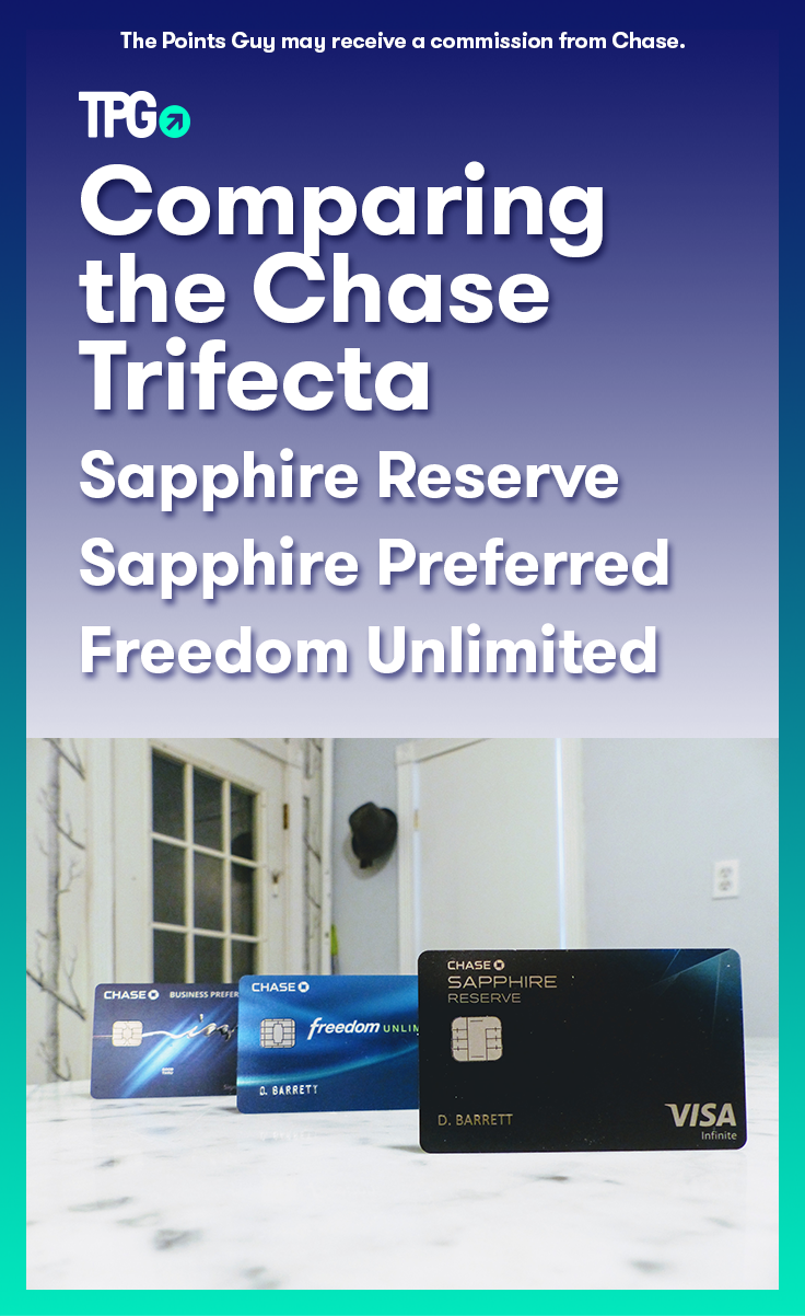 The Power Of The Chase Trifecta Sapphire Reserve Ink Preferred And Freedom Unlimited The Points Guy Chase Freedom Card Trifecta Chase