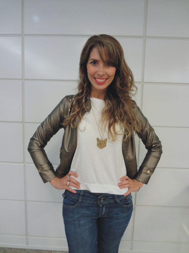 Jaqueta metalizada!  www.arianneribeiro.com
