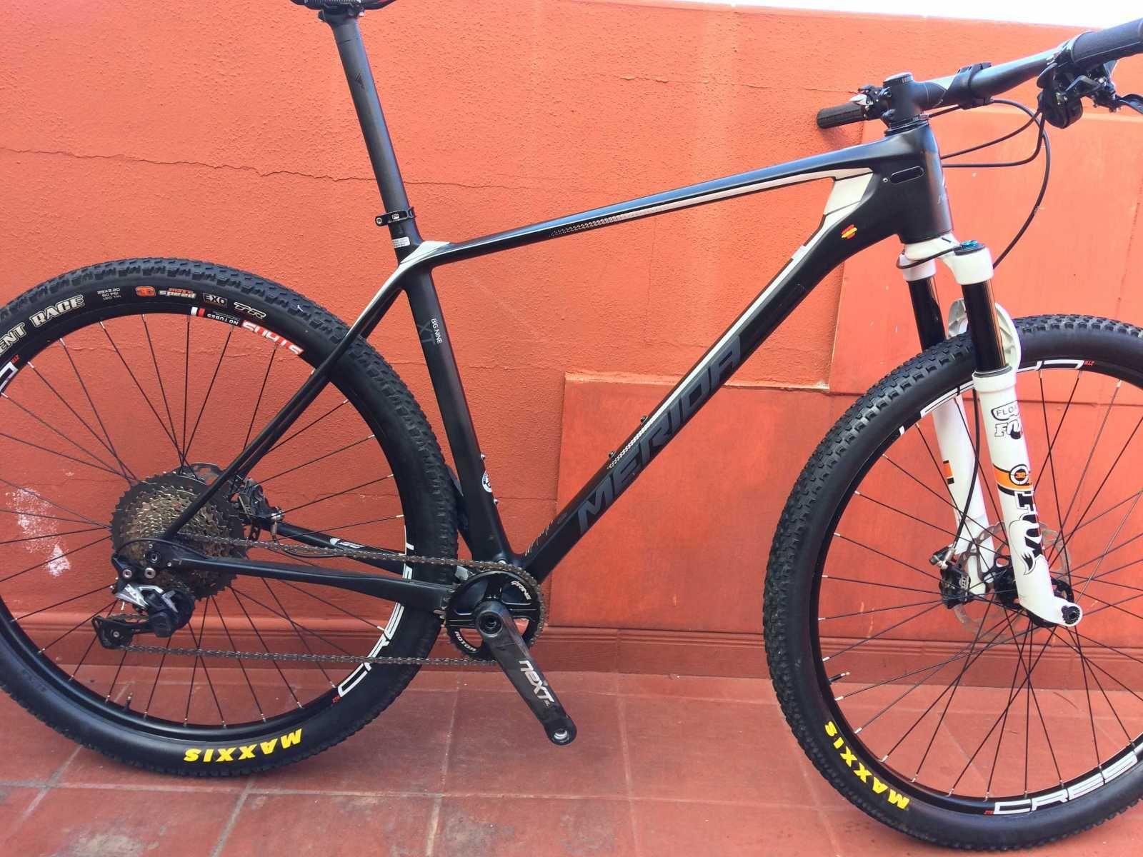 Bicicleta De Montaña Merida Big Nine Ref 42564 Talla 21 Año 2018 Cambio Shimano Slx Cuadro De Carbono Suspens Bicicletas Bicicletas Mtb Cambios Shimano