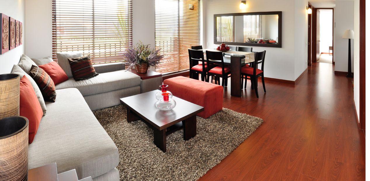 Sala comedor pequeno decoraci n de salas al estilo for Living pequeno moderno