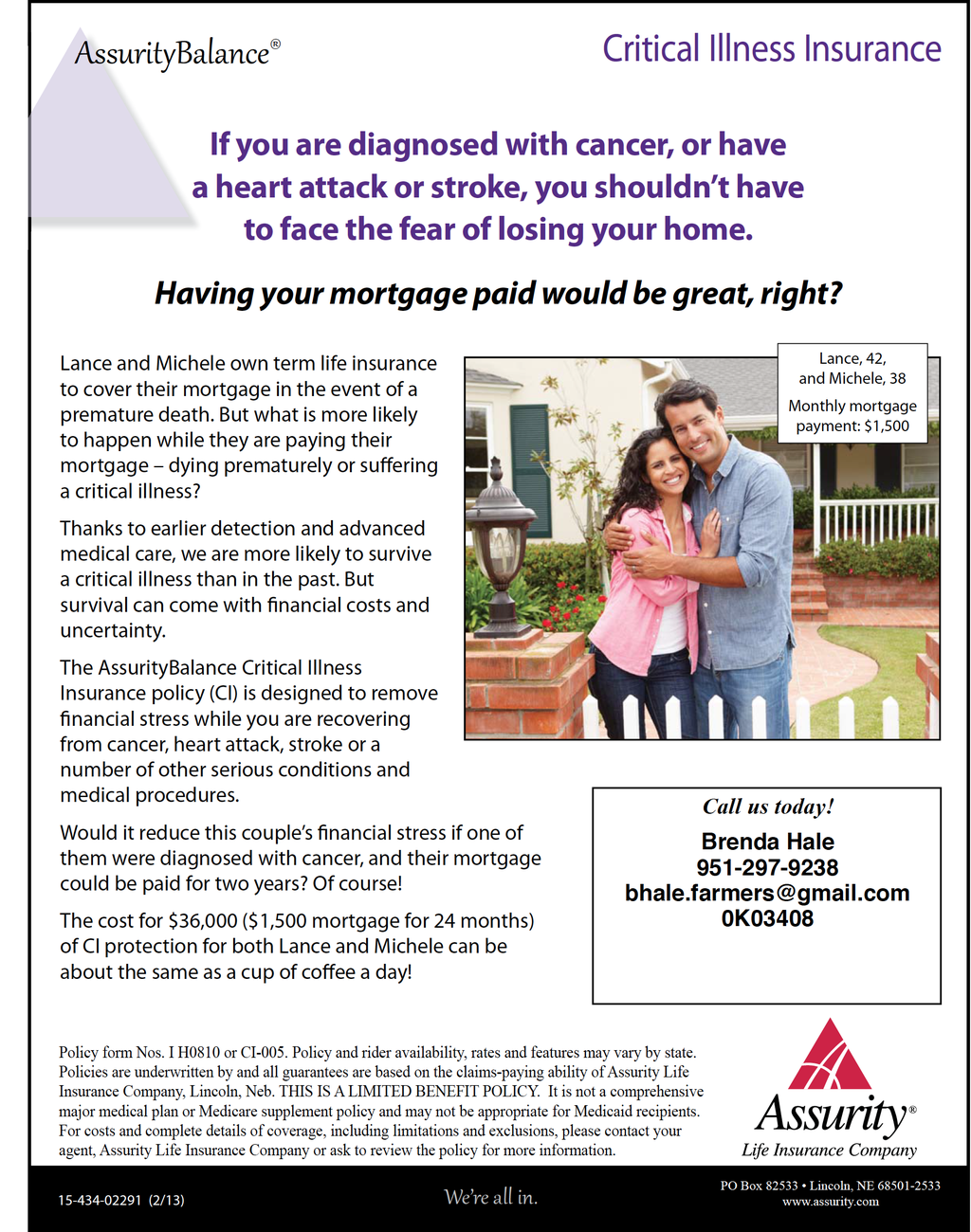Cover Your Mortgage When You Can't Work! Risk free
