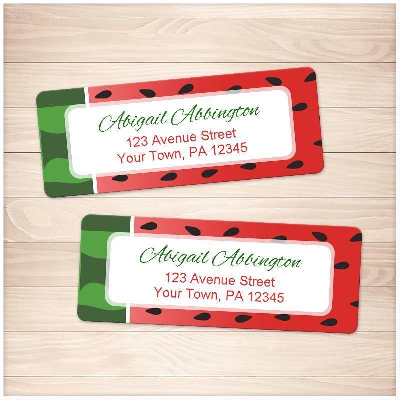 watermelon design address labels printable at printable planning