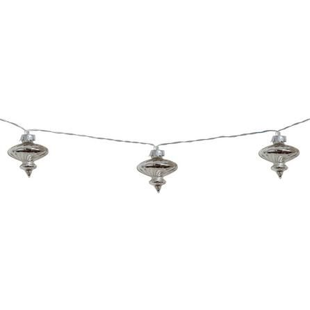 Mercury Glass 10 LED Chain Lights | Dunelm
