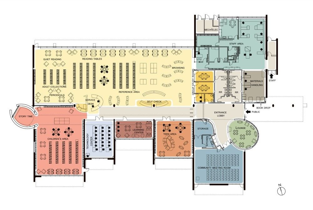 Valley Hi North Laguna Library Noll Tam Architects Library