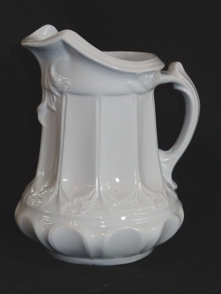 antique t r boote white ironstone pitcher jug sch nes porzellan pinterest porzellan. Black Bedroom Furniture Sets. Home Design Ideas