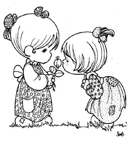Dibujos de una niña oliendo flores - Imagui | Dibujos colorear ...