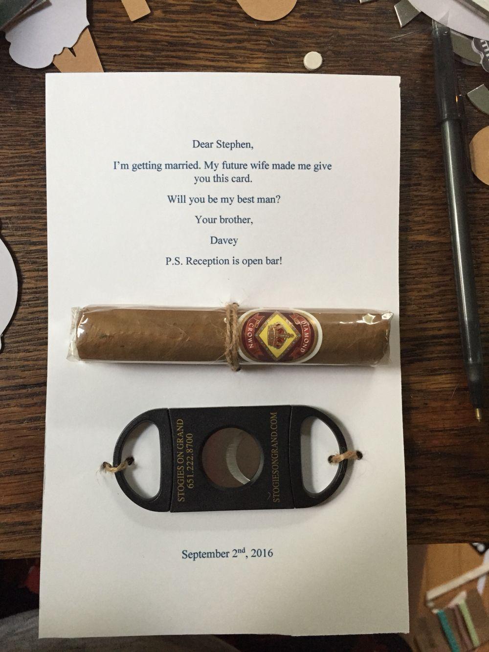 Creative Way To Ask Groomsman To Be In Wedding Future