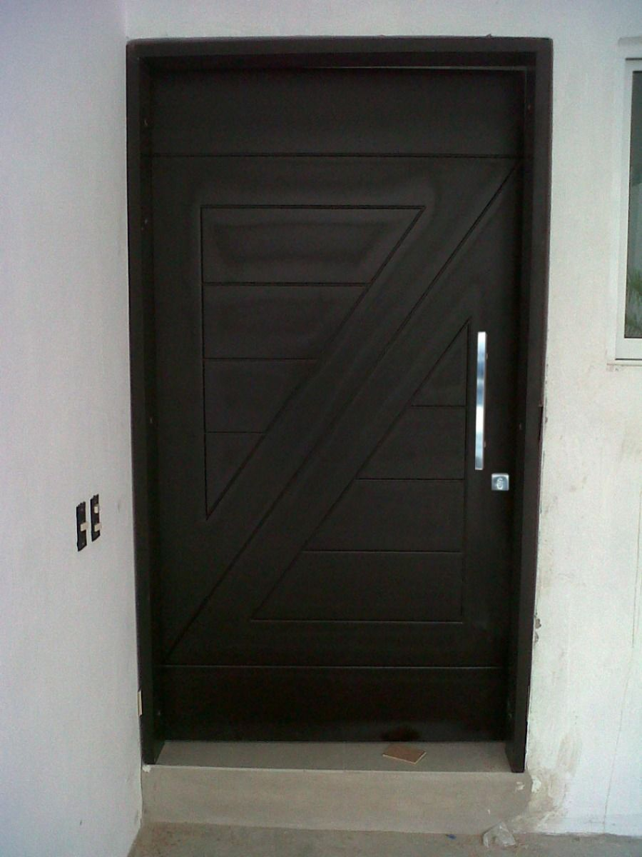 Puerta Exterior Madera Oscura Ideas Para El Hogar Puertas