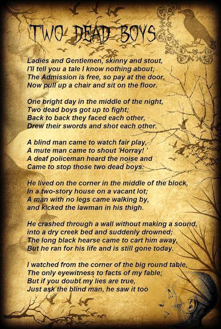 short halloween poems and thier meenings