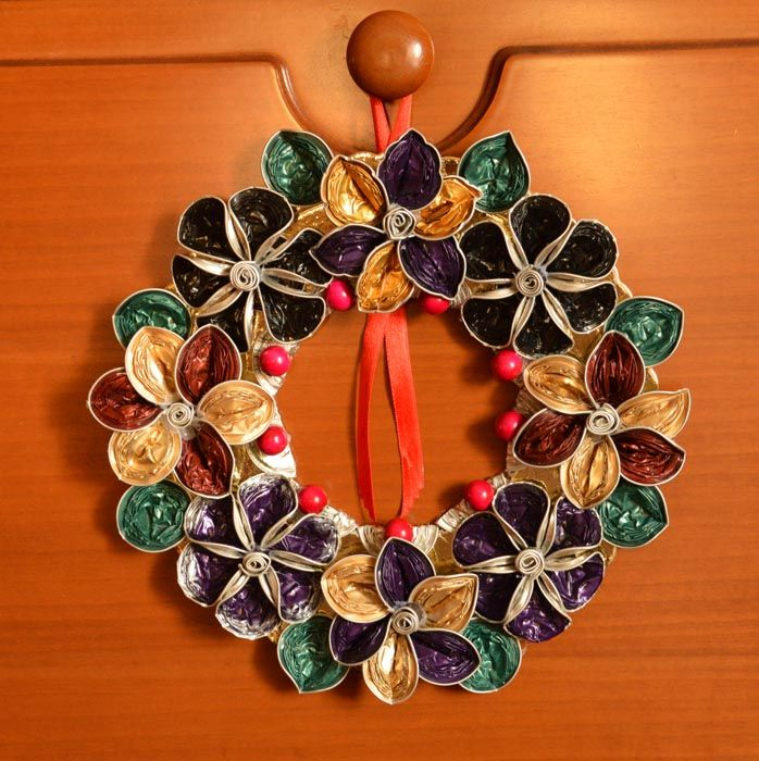 Extrem wreath made with Nespresso capsule | Nespresso jewelry and more  NL99
