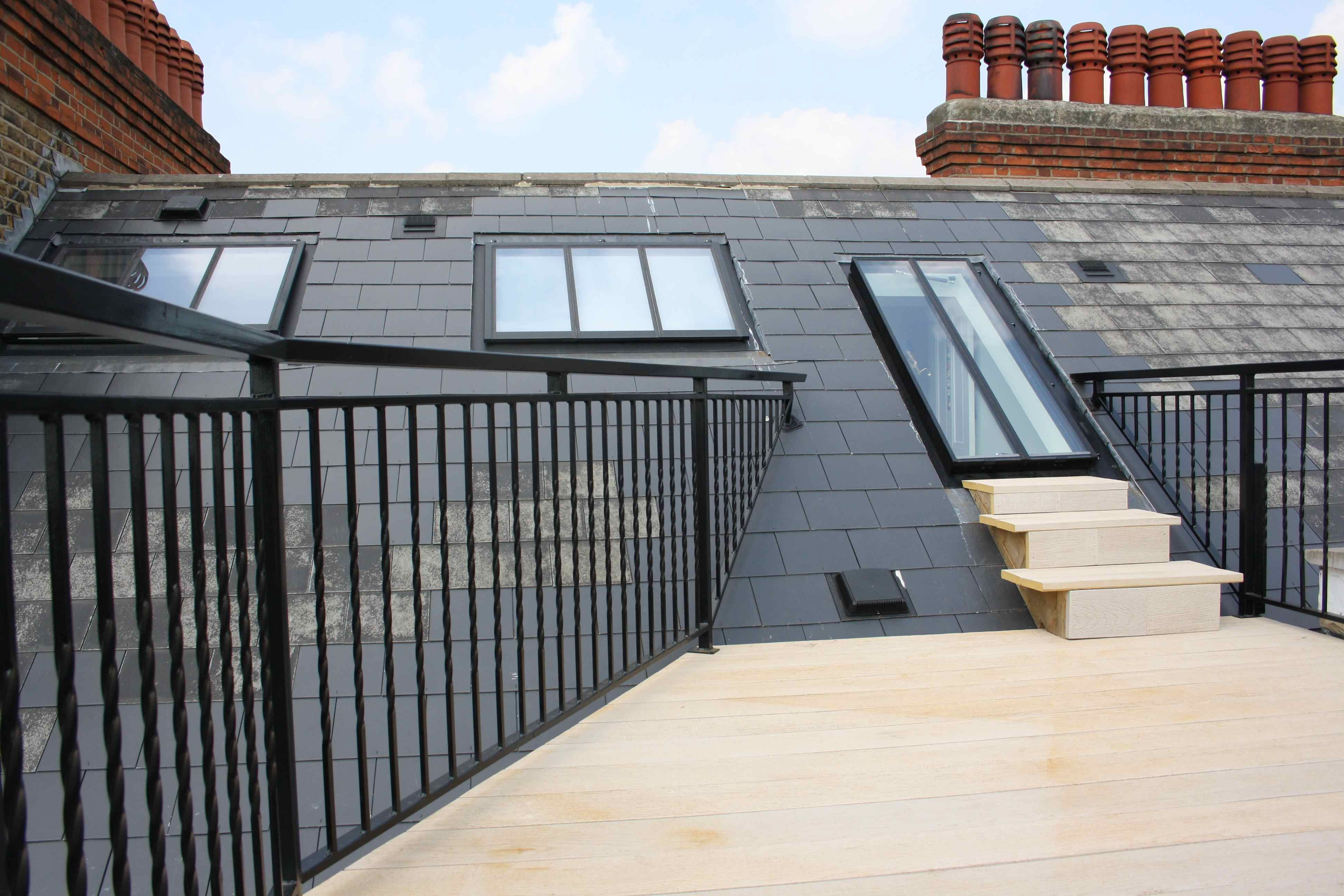 Roof Terrace And Loft Conversion To A Flat West London Loft Conversion Roof Loft Conversion Loft Conversion Decor