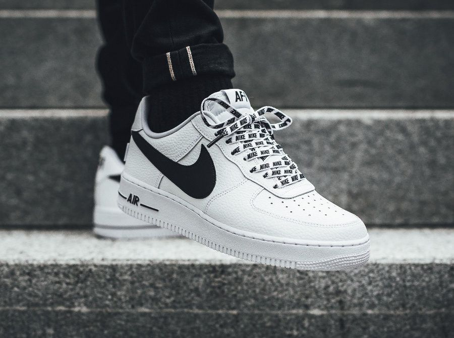 on wholesale various colors big discount NIKE AIR FORCE 1 LOW NBA 07 LV8 WHITE BLACK 823511 103 in ...