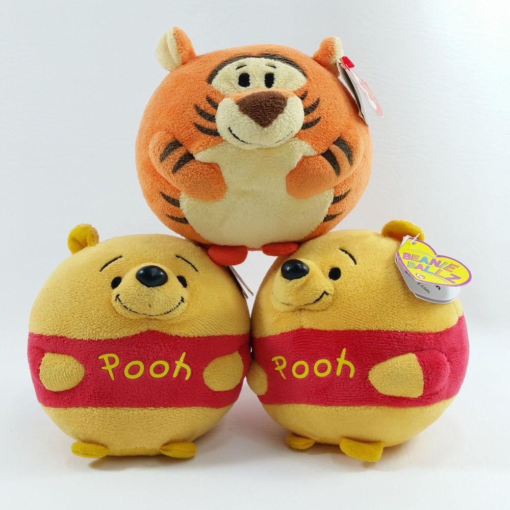 Winnie the Pooh /& Friends Small Ty Beanie Ballz Tigger Plush NEW