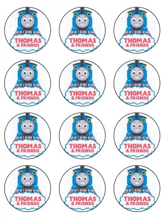Dynamite image within free printable thomas the train cup cake toppers