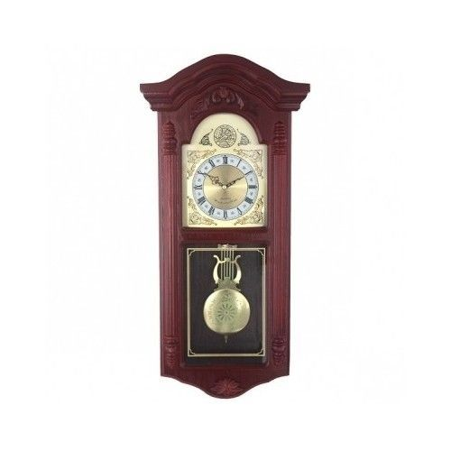 Attractive Pendulum Wall Clock European Westminster Chimes Grandfather Cherry Wood  Decor #wall Clocks #contemporary Wall