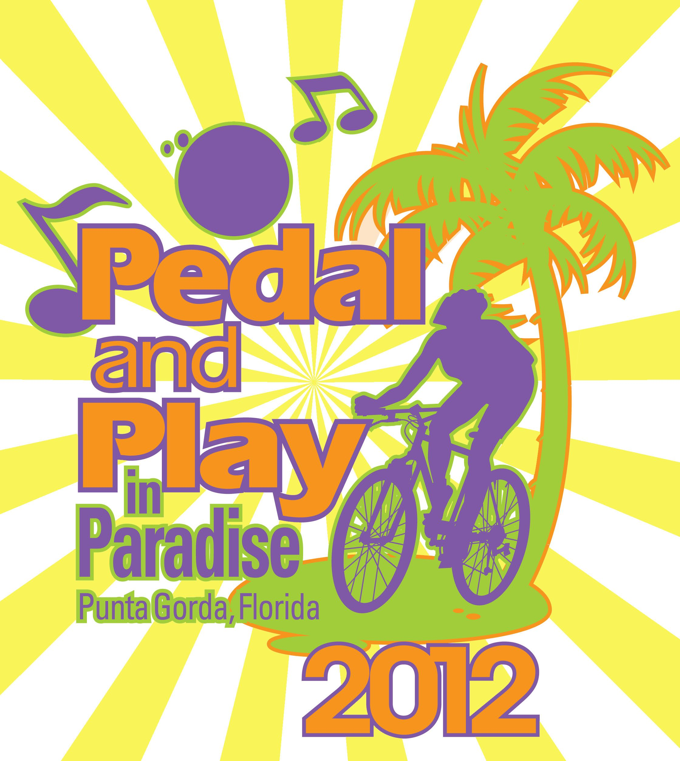 Pedal and Play in Paradise logo