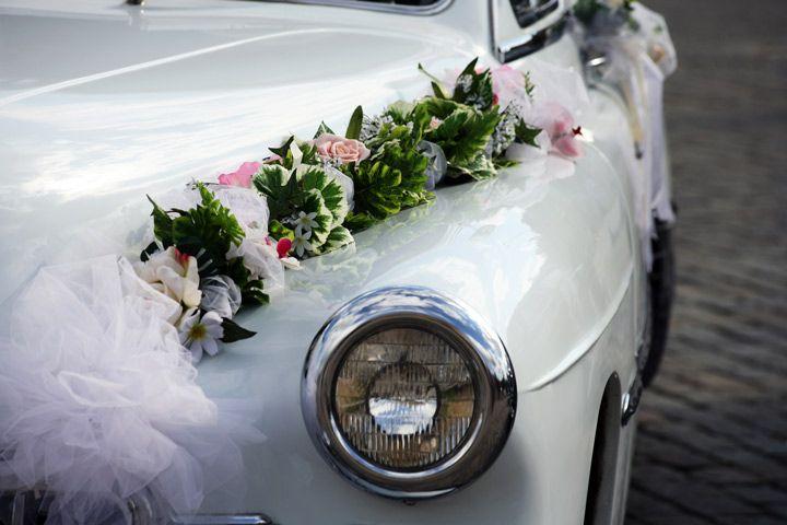 Wedding Car Decoration With Flowers - wedding Car-decorattion