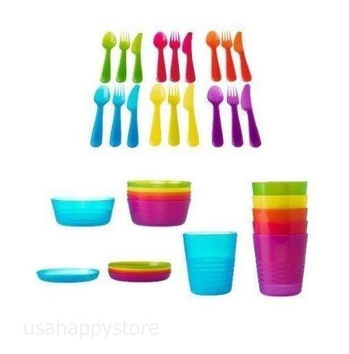 Dinnerware Set 36 Piece Kids Children Cutlery Plates Dishes Bowls Cup Kitchen Ikea Dinnerware Ikea Kids Dishes