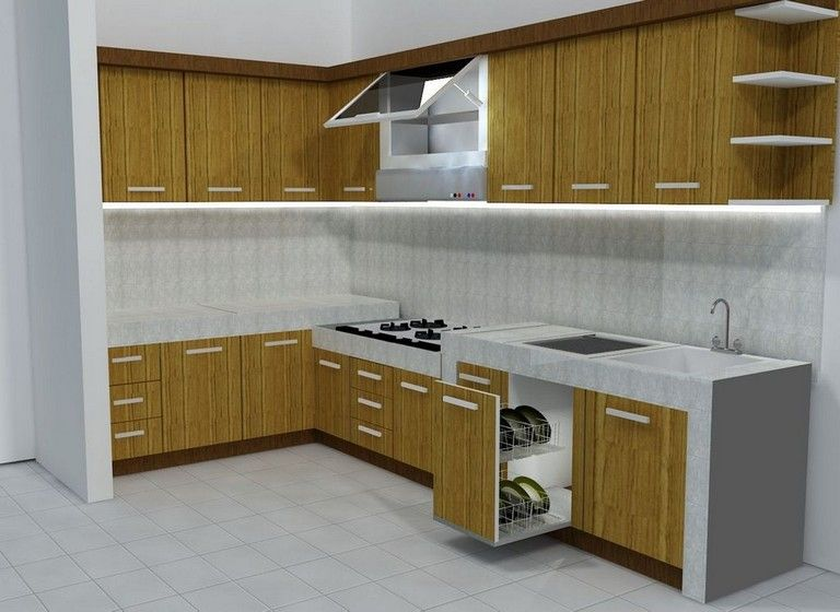 Best 32 Stunning Simple And Small Kitchen Set Design Ideas 640 x 480