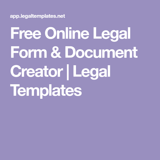 Free Online Legal Form Document Creator Legal Templates Legal Forms Printable Divorce Papers Letter Template Word