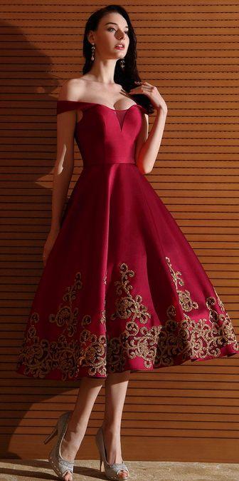 81e2c19f48a9 Designer Burgundy Off Shoulder Short Prom Dress (04170917)