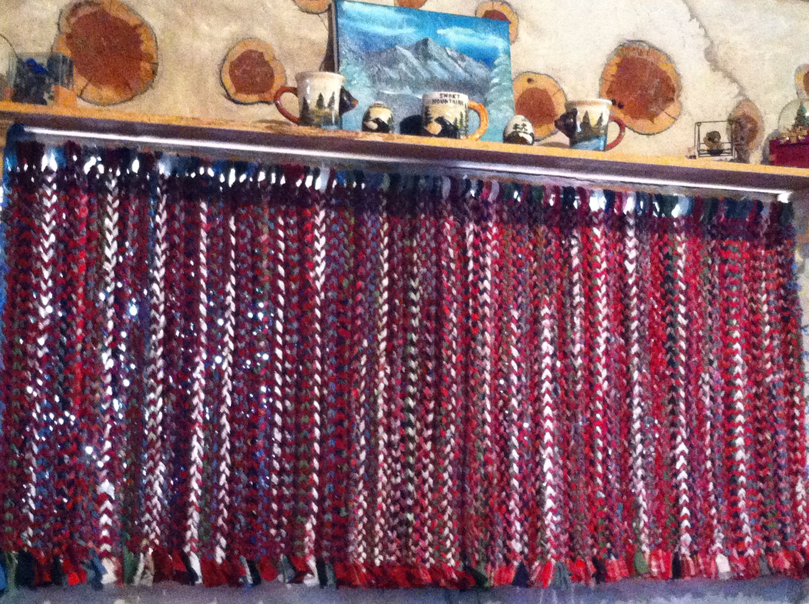 Finished with my 1st pair of woven rag rug curtains ! Made by me LKV :)