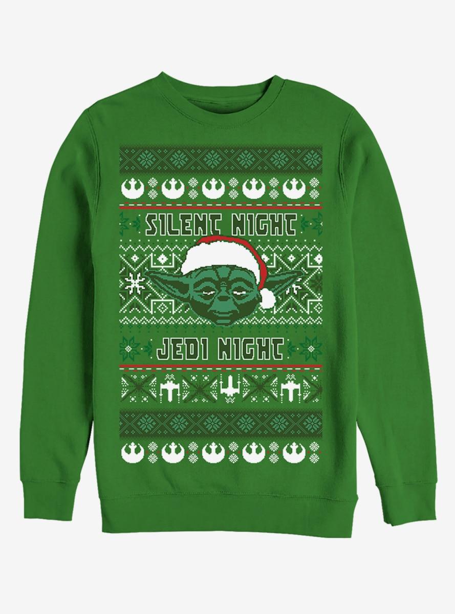 Star Wars Christmas Jumper Merry Xmas Yoda Festive Adult /& Kids Jumper Top