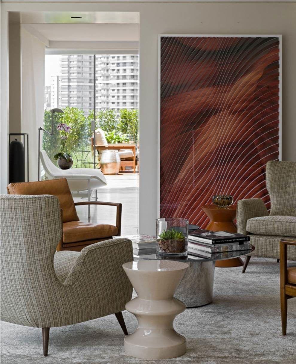 Sala de bate papo, tendência na decoração de interiores
