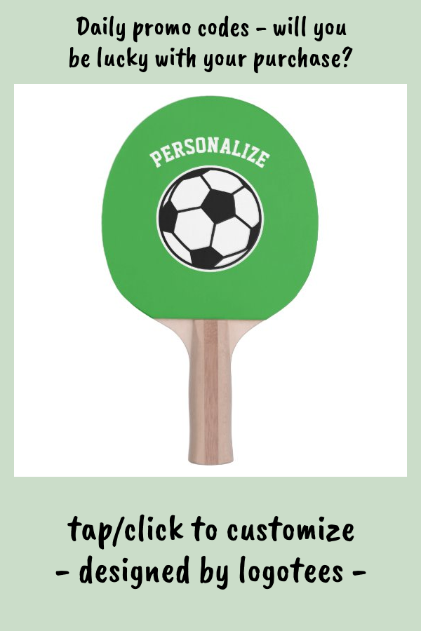 Soccer Ball Table Tennis Ping Pong Paddle For Kids Zazzle Com In 2020 Ping Pong Paddles Table Tennis Ping Pong
