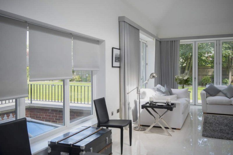 Blind Ideas For Large Windows Part - 46: Large Glazed Areas Such As Bifold Doors Can Be A Challenge When Considering  Privacy. We Can Offer Several Solutions For Window Treatments For Bifold  Doors, ...