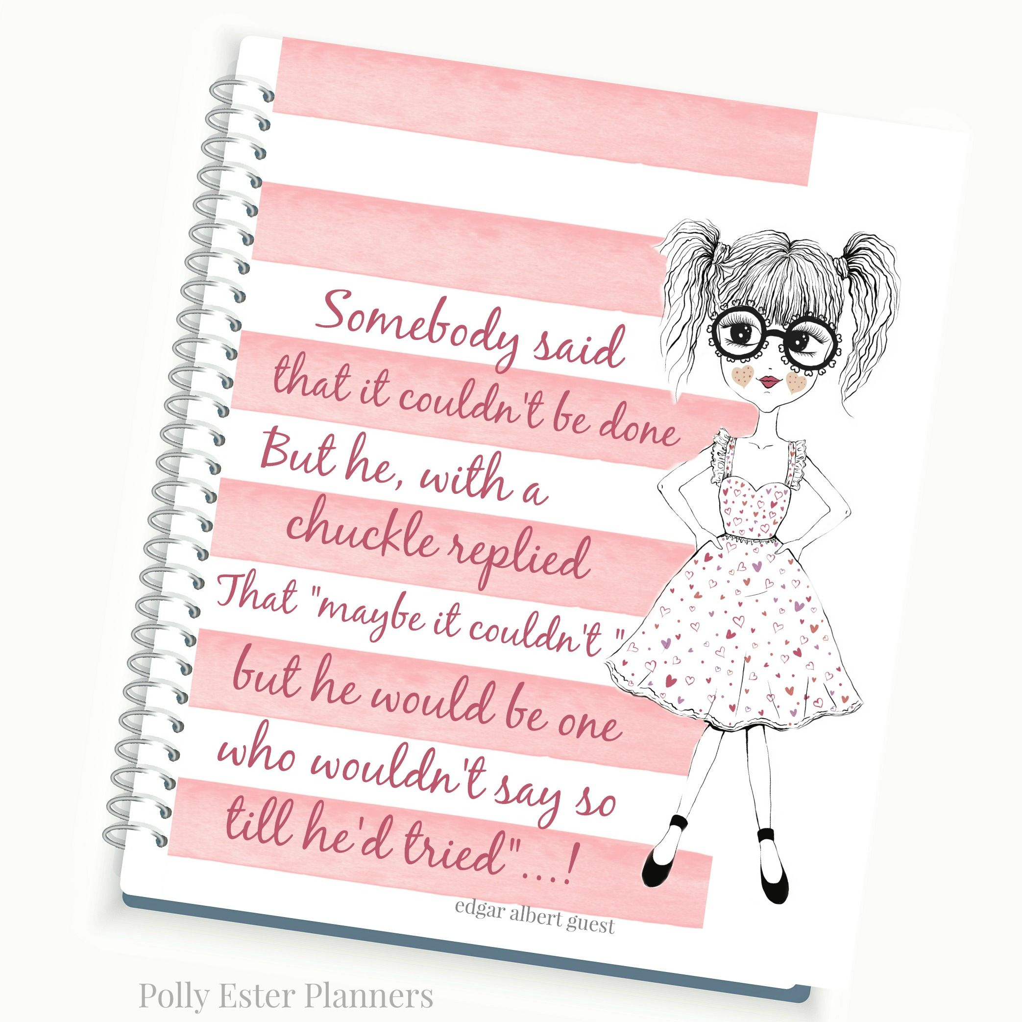 Planner And Organizers Planner With Inspirational
