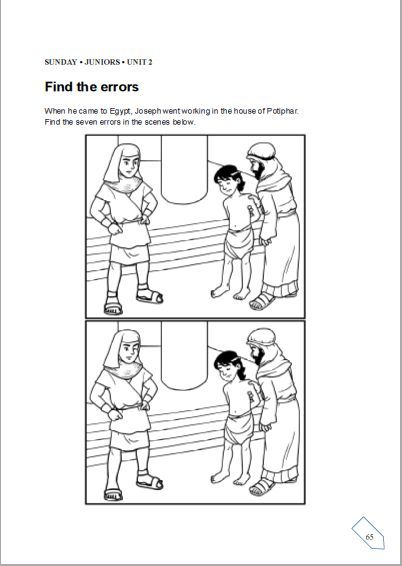 Image result for joseph and potiphar coloring pages