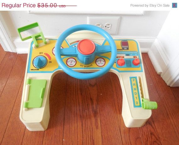 SALE Vintage RARE 1979 Shelcore SIT N Drive Auto by LittleMarin, $28.35