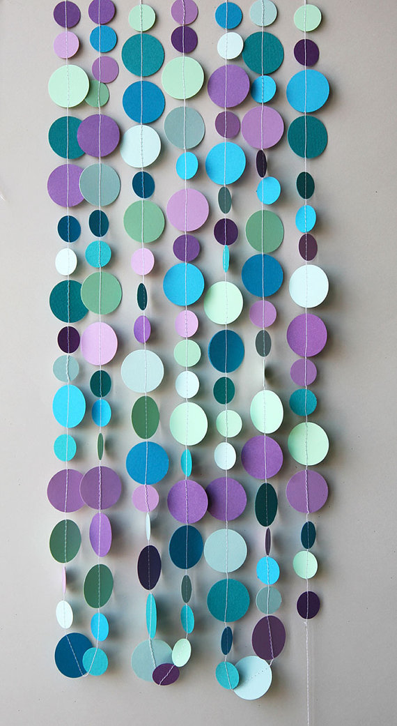 Bubbles party decoration hang on wall straight swag or use as  table runner also mermaid birthday rh pinterest