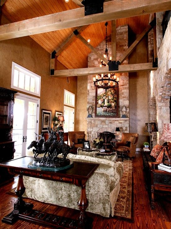 Texas Style Design Ideas Pictures Remodel And Decor Tuscan Decorating Rustic Living Room Tuscan Design