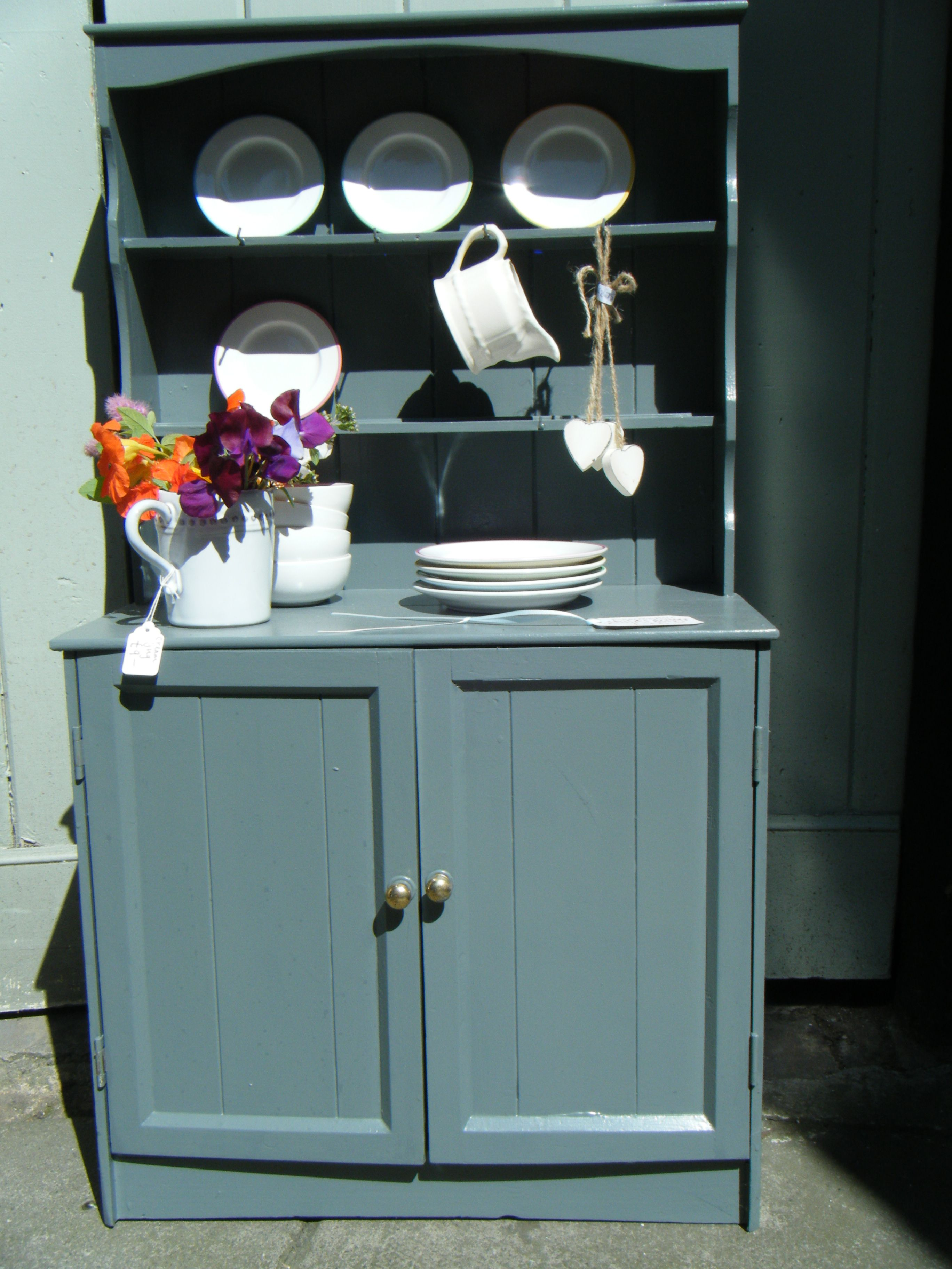 child's dresser painted in downpipe