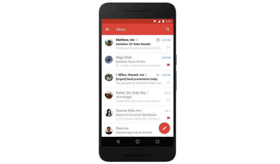 Android Gmail app supports for Microsoft Exchange accounts