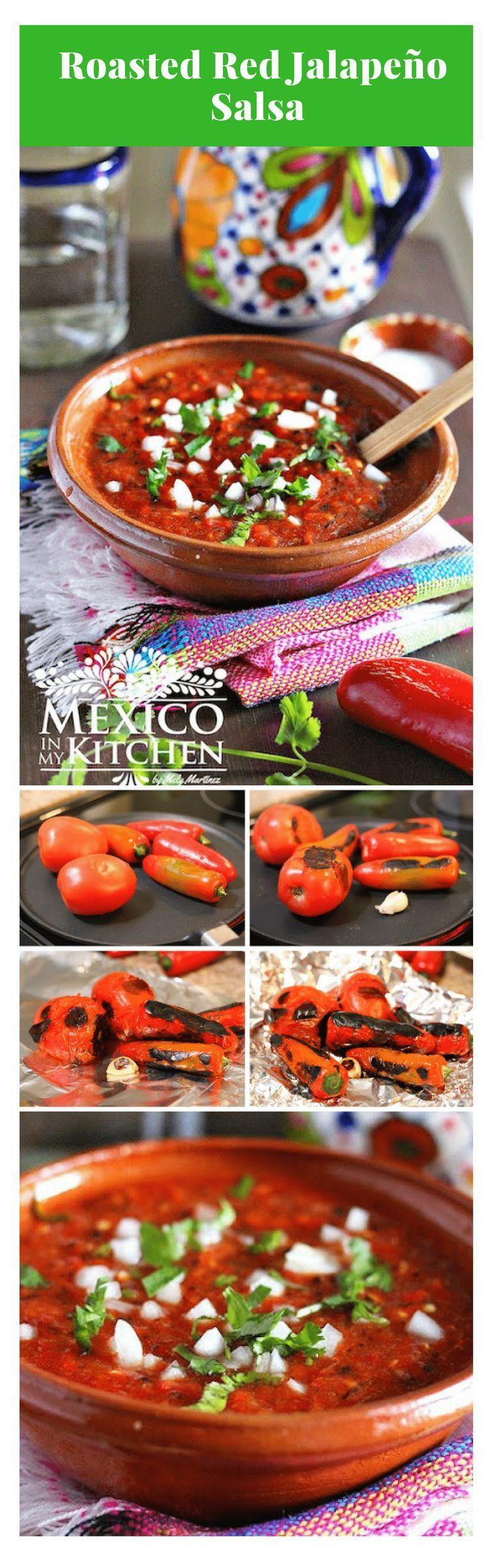 Roasted red jalapeño salsa Recipe Mexican breakfast