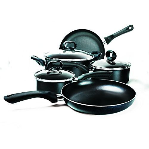 Ecolution EVBK 1208 8 Piece Evolve Non Stick Cookware Set Black