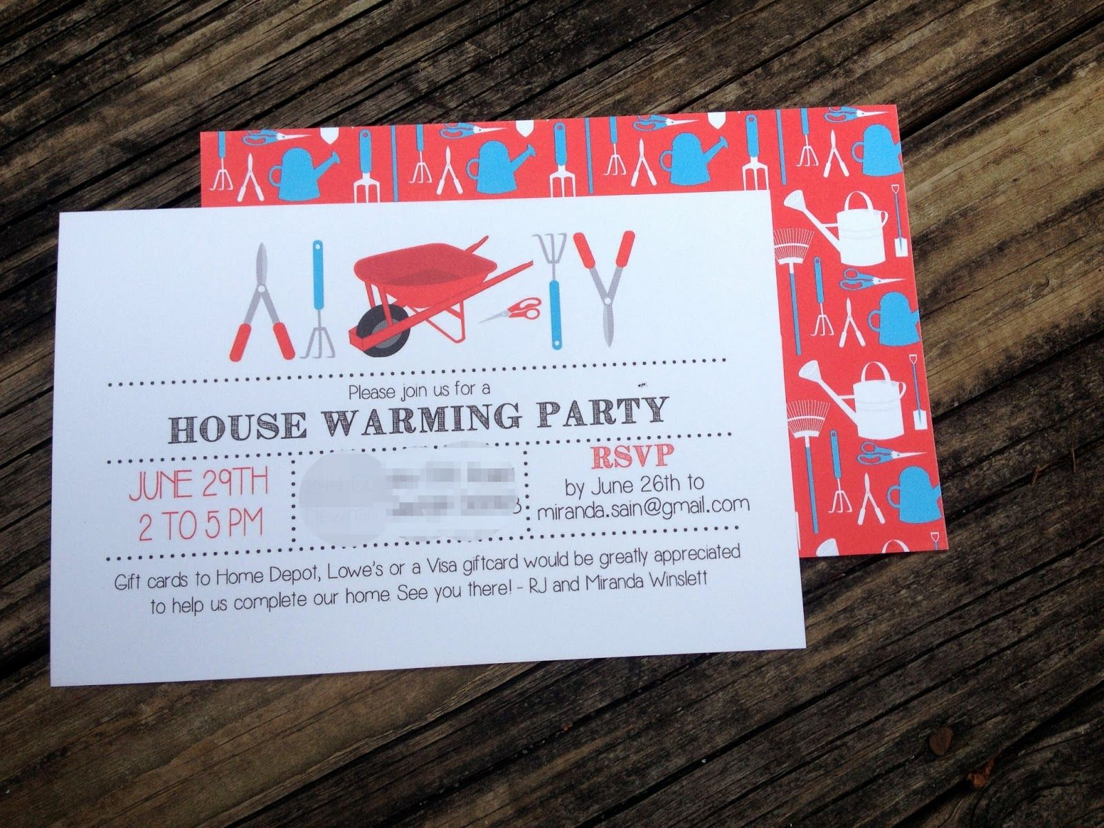 Housewarming Party Invitation Asking For Gifts And Housewarming