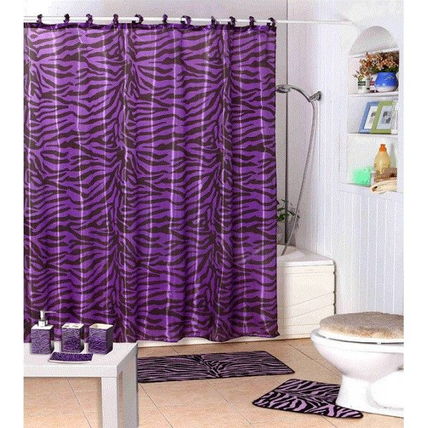 Purple Shower Curtains Set Purple Zebra Animal Print