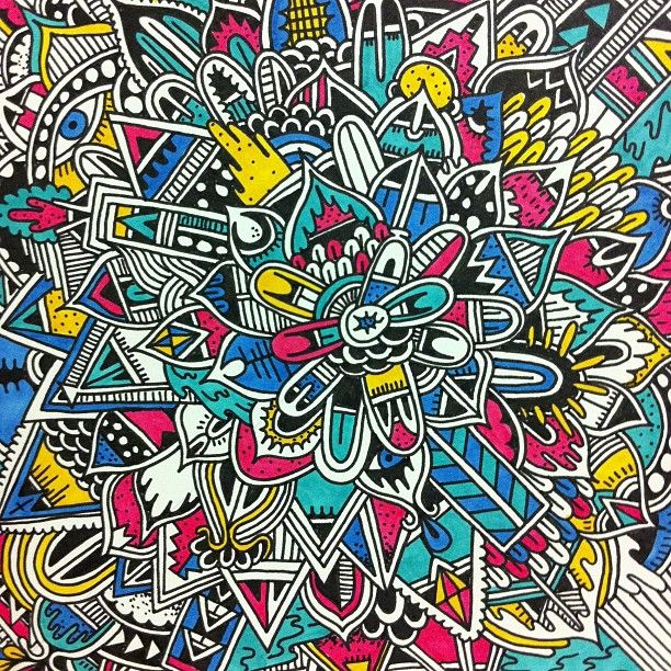 Doodle art colored music