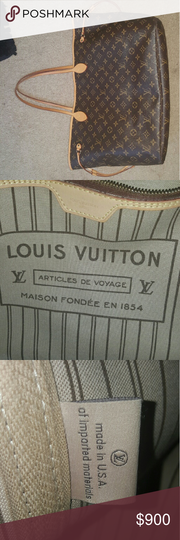 Louis Vuitton Never Full Authentic Louis Vuitton....Never Full GM Bags Totes