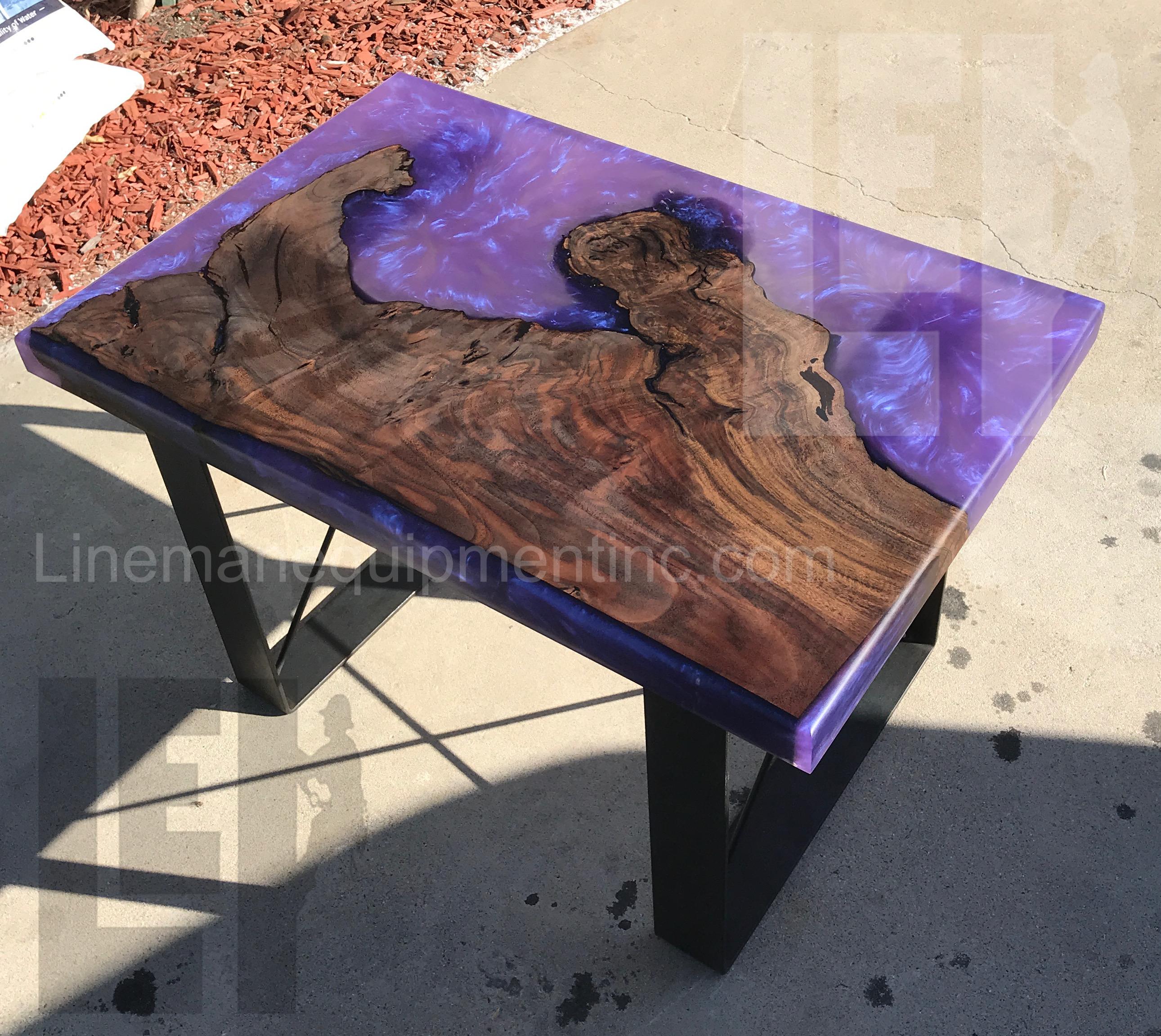 Galaxy Purple Coffee Table In 2020 Resin