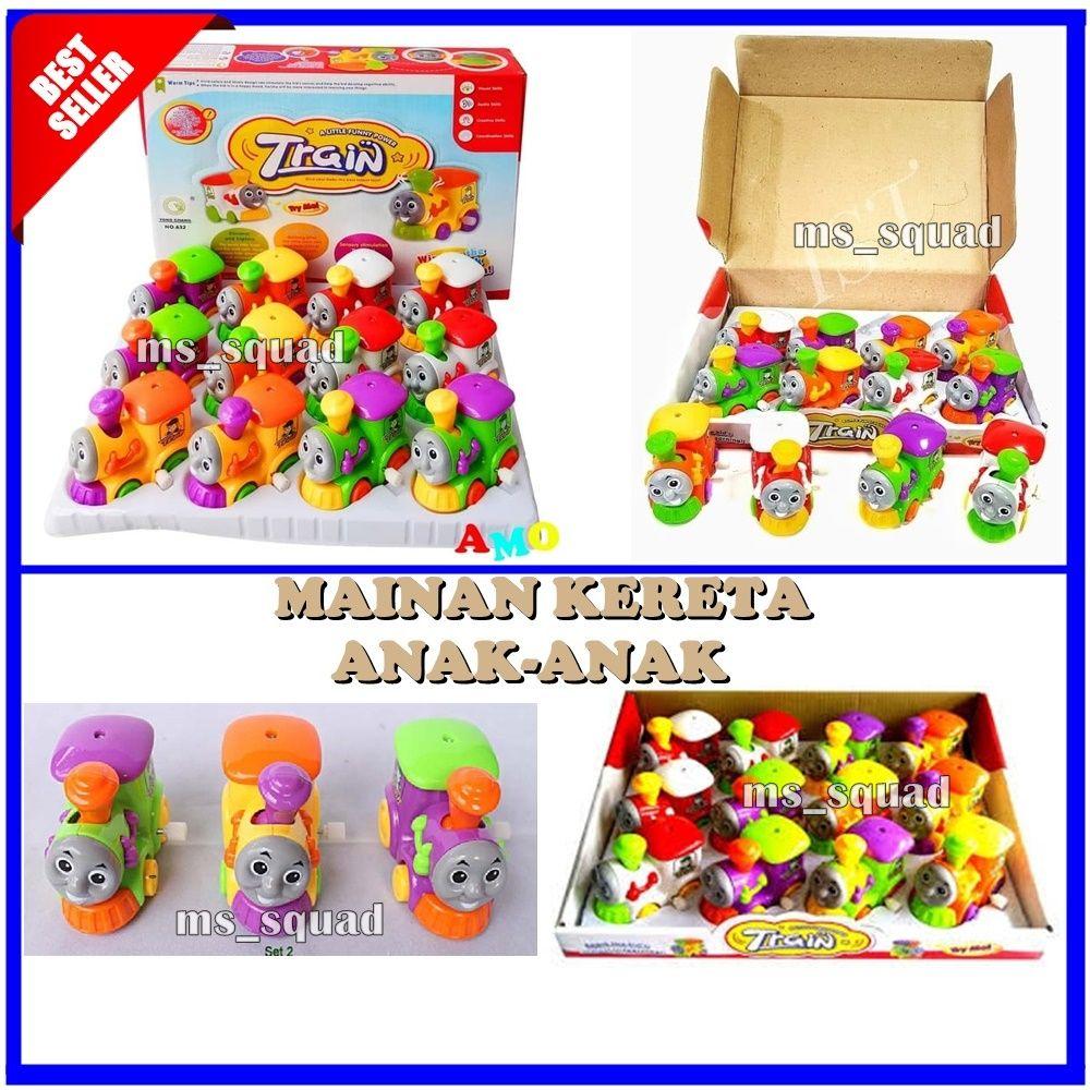 Mainan Bayi Funny Train Mainan Kereta Anak Anak Panjang 8cm Warna Acak Ms Squad Mainan Bayi Mainan Bayi