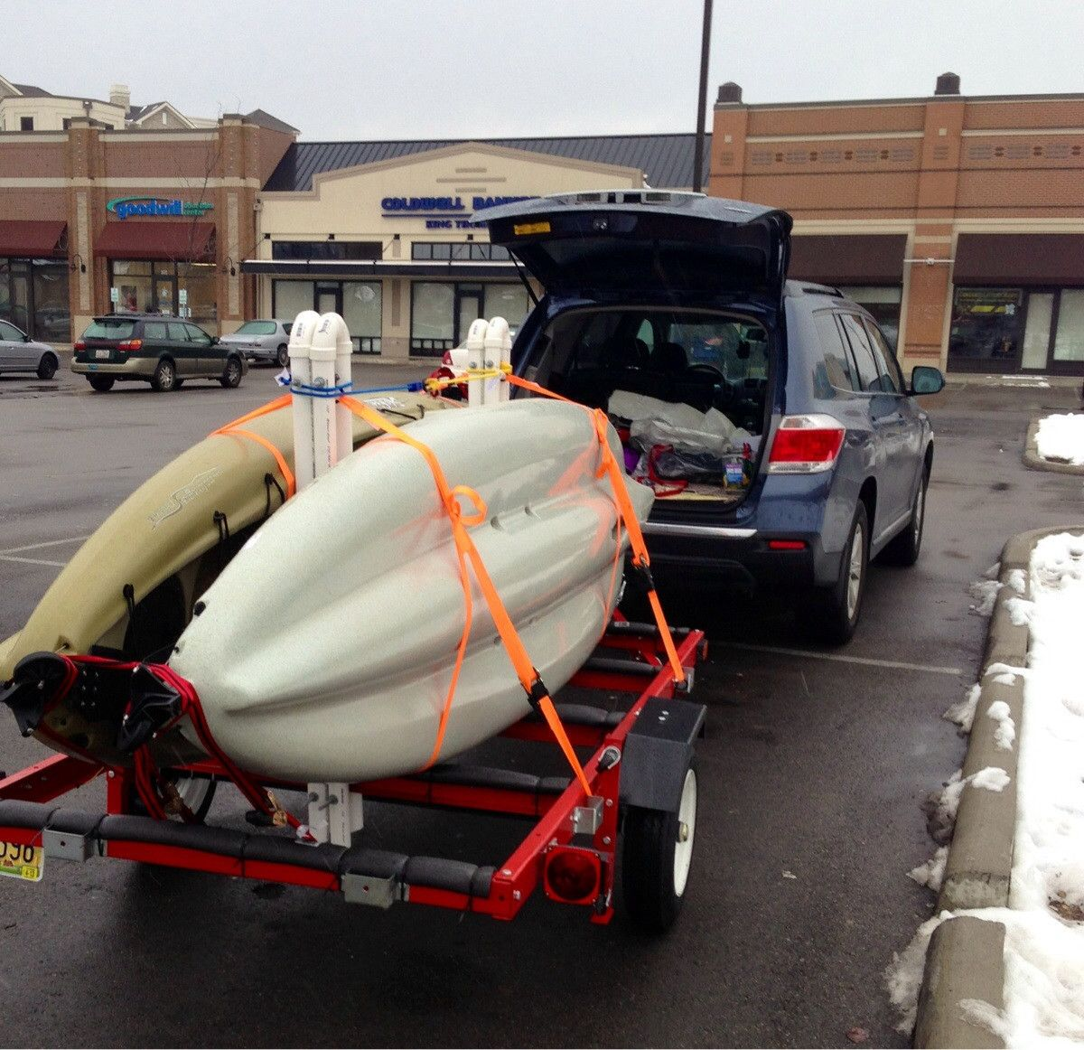 How to build a kayak trailer teardrop trailer for Harbor freight fishing cart