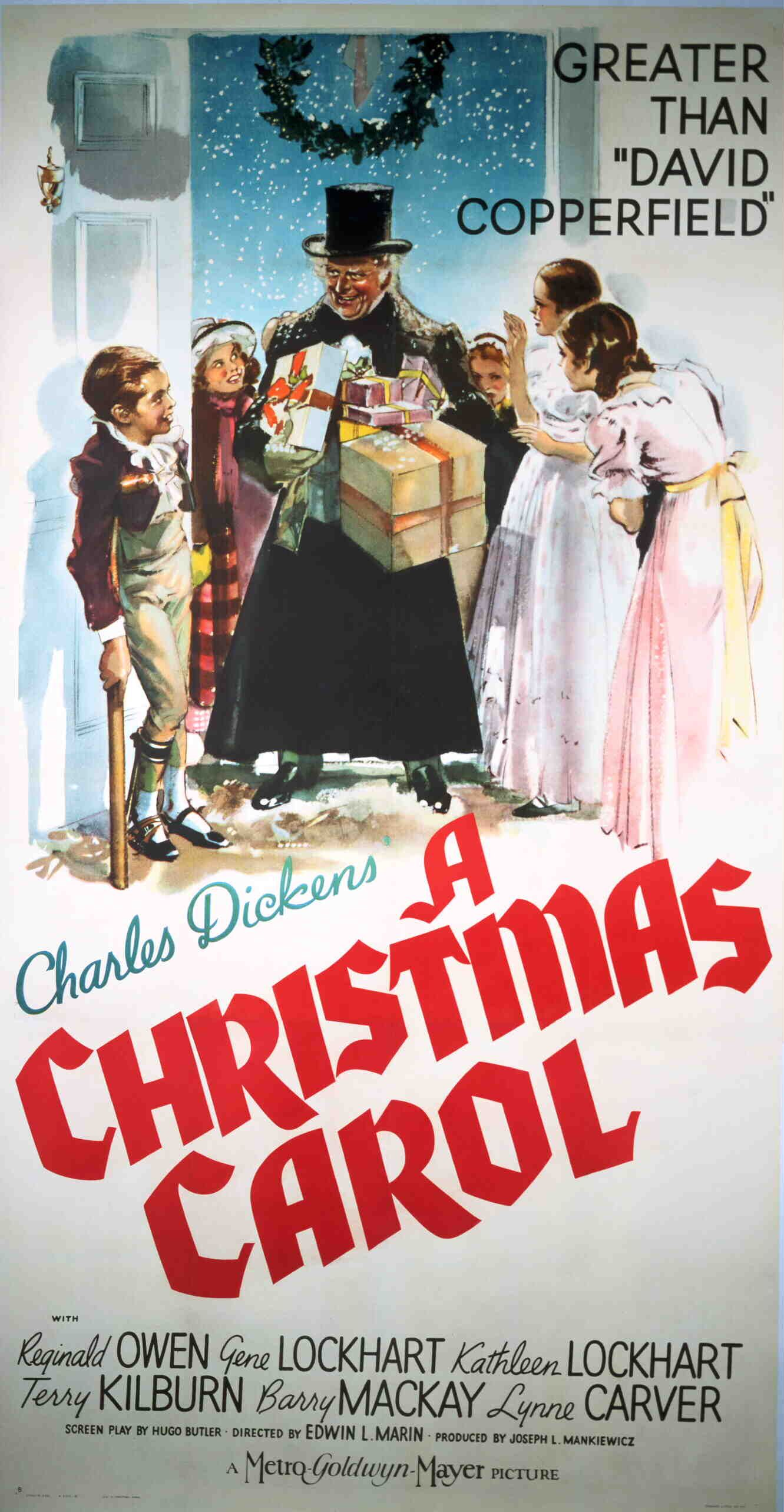 Image result for a christmas carol 1938 movie poster