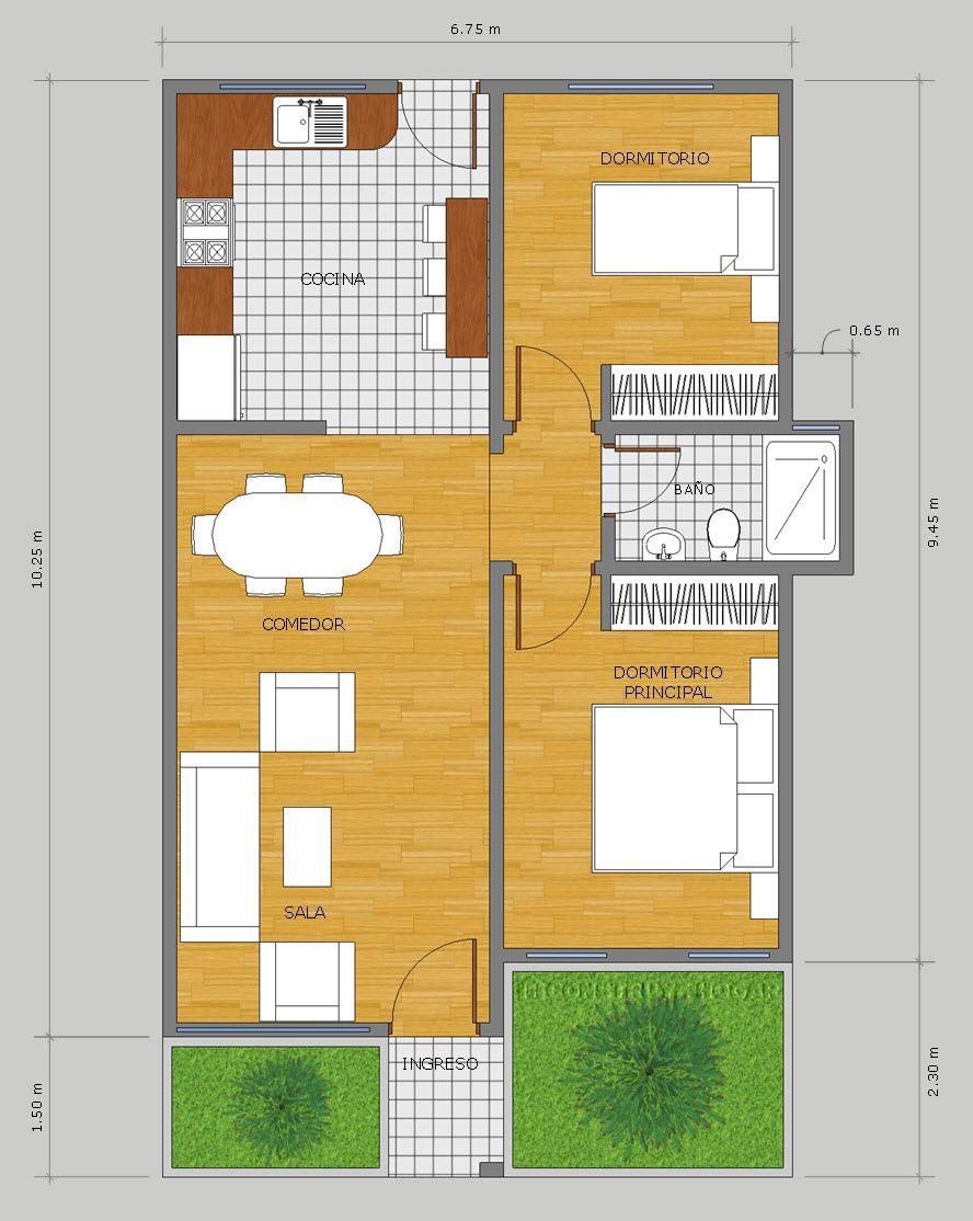 Idea De Diseno Casa Pequena Un Piso Diseno Casas Pequenas Croquis De Casas Pequenas Planos De Casas
