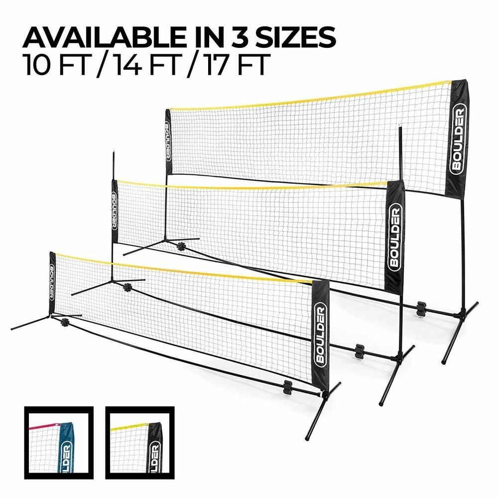 Advertisement Ebay Boulder Portable Badminton Net Set Net For Tennis Soccer Tennis Pickleball Soccer Tennis Badminton Nets Kids Volleyball